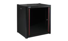 MIRSAN MR.WTN07U56.01 :: Сървърен шкаф за мрежово оборудване - 600 x 560 x 423 мм, D=560 мм / 7U, черен, за стена