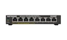 Суич Netgear GS308P, 8 x 10/100/1000 Gigabit Switch 4 x PoE, (metal case) (Up to 53W)