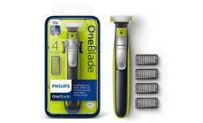 Philips OneBlade Уред за подстригване, оформяне, бръснене, За всякаква дължина на косъма, 4 гребена, с щракване, набола брада, С презареждане, за сухо и мокро