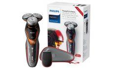 Philips STAR WARS Електрическа самобръсначка за мокро сухо бръснене, Ножчета V-Track Precision PRO, Глави ContourDetect в 8 посоки, Режим Турбо+, Прецизен тример SmartClick