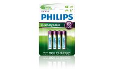 Philips Rechargeable презареждаща батерия AAA, 950 mAh, Никел-металхидридни, 4-blister