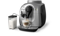 Philips Автоматична еспресо машина 2000 series, Приготвя 3 варианта кафе, Easy Cappuccino System, сребристо и черно
