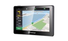 "Prestigio GeoVision 5057 (5.0"", TFT, 480х272, Win CE 6.0, CPU MSTAR 2531A 800 MHz, 128 MB RAM, 4 GB internal, 16 GB microSD card, FM, 950 mAh, Black/Gun Metal, Plastic, Navitel navigation software, preinstalled maps of Full Europe (44 countries)) Fre"
