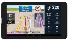 Prestigio GeoVision Truck, 7.0 IPS 1280x720 Android 7.0 CPU Cortex A7 DC 1.3 GHz 1 GB RAM 16 GB internal 0.3+2.0MP FM 3G WiFi BT SIM card slot 2800 mAh Sygic navigation software maps: FULL Europe truck version 3y free updates