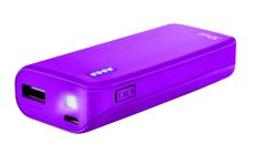 TRUST Primo Power Bank 4400 Portable Charger - Purple