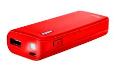 TRUST Primo Power Bank 4400 Portable Charger - Red