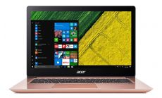 "Acer Aspire Swift 3 Ultrabook, Intel Core i7-8550U (up to 4.00GHz, 8MB), 14.0"" FullHD IPS (1920x1080) Anti-Glare, HD Cam, 8GB DDR4, 512GB SSD, Intel HD Graphics 620, 802.11ac, BT 4.0, MS Windows 10, Rose Gold"