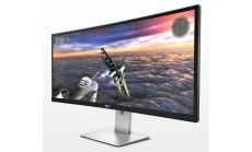 "Dell U3415W, 34"" Curved LED, IPS Panel Anti-Glare, UltraSharp, 5ms, 2000000:1 DCR, 300 cd/m2, 3440x1440, Speakers, HDMI, MHL, DisplayPort, USB3.0 Hi-Speed Hub, Height Adjustable, Pivot, Swivel, Black"
