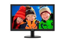 "Philips 243V5LHAB5, 23.6"" Wide TN LED, 5 ms, 10M:1 DCR, 250 cd/m2, 1920x1080 FullHD, D-Sub, DVI, HDMI, Speakers, Black"