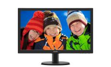 "Philips 243V5QHABA, 23.6"" Wide MVA LED, 8 ms, 3000:1, 10M:1 DCR, 250 cd/m2, 1920x1080 FullHD, D-Sub, DVI, HDMI, Speakers, Black"