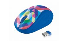 TRUST Primo Wireless Mouse - blue geometry