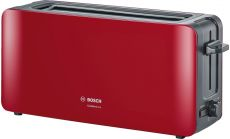 Bosch TAT6A004, Plastic toaster CompactClass, 825-980 W, For 1 long or 2 small slices of toast, white/light gray