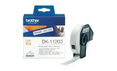 Brother DK-11203 File Folder Labels, 17mm x 87mm, 300 labels per roll, Black on White