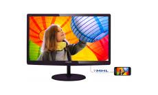 """Philips 21.5""""   TFT-LCD monitor 1920x1080 FullHD 16:9 1ms Smart Response 250cd/m2 20 000 000:1, VGA/DVI-D/MHL-HDMI, Cherry Black"""