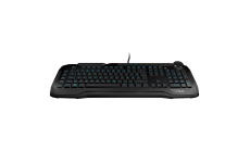 ROCCAT Horde - Membranical Gaming Keyboard, Black, ARM Cortex-M0+ 50MHz, 512kB onboard memory, 1000Hz polling rate, 1.2mm actuation point for macro keys, 1.8m braided USB cable
