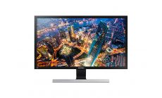 "Monitor Samsung U28E590D 28"" LED, Ultra HD (3840x2160), Brightness: 370cd/m2, Contrast: 3000:1, Response time: 1ms, Viewing Angle: 170°/160° , 2xHDMI, DP, Black (+ DP Cable)"
