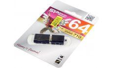 USB памет SILICON POWER LuxMini 710 Black 64GB, USB 2.0