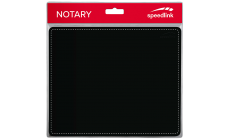 Speedlink NOTARY Soft Touch Mousepad, Stylish leather-look, non-slip backing, soft covering, easy to clean, length: 23cm, width: 19cm, thickness: 3mm, black