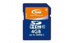 Карта памет TEAM SDHC, 4GB, Class 10