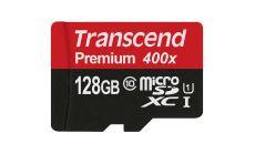 Памет Transcend 128GB microSDXC/SDHC Class 10 UHS-I (Premium) U1, with adapter, read: up to 60MBs, 400x