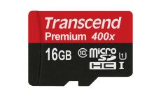 Памет Transcend 16GB microSDXC/SDHC Class 10 UHS-I 400x (Premium), no Adapter, read: up to 60MBs, 400x