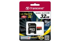 Памет Transcend 32GB microSDHC Class10 U1 MLC with adapter, read: up to 90MBs, MB/s 600x