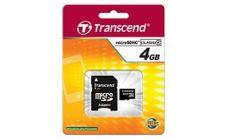 Transcend 4GB microSDHC (1 adapter - Class 4)
