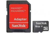 Памет SanDisk 16GB Class 4 MicroSD Card with SD adaptor
