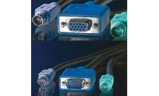 ROLINE 11.99.5450 :: KVM кабел, 1x HD15 M/F, 2x PS/2 M/F, 3C+4, 1.8 м