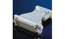 ROLINE 12.03.6510 :: Модемен адаптер DB-9 M / DB-25 F, монолитен