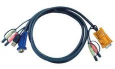 ATEN 2L-5305U :: KVM кабел, HD15 M + 2x jacks >> USB type A M + HD15 M + 2x jacks, 5.0 м