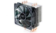"""DeepCool Охладител CPU Cooler GAMMAXX 400 - 2011/1150/1366/775/AMD Охладител за процесор тип """"кула"""", поддръжка на всички съвременни процесори до 130 вата включително и AMD AM4, вентилатор със синя подсветка"""