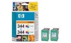HP 344 Tri-colour Inkjet Print Cartridge 2-pack with Vivera Inks (2xC9363EE)