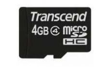 Transcend 4GB microSDHC (No Box & Adapter - Class 4)