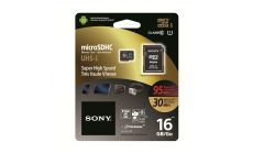 Sony 16GB Micro SD,class 10,  Super High Speed, 95MB/sec read, 30MB/sec write