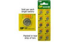 Бутонна алкална батерия GP191 LR-1120/ 10 бр./pack  цена за 1 бр./ 1.55V  GP