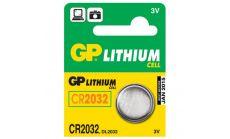Бутонна батерия литиева CR 2032 3V  1бр. /5pk/  GP