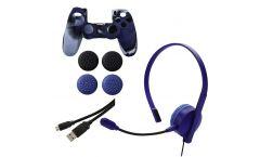 Комплект аксесоари Chat, Power & Grip за PS4, HAMA 115463, Червен