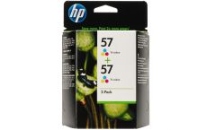 Консуматив HP 57 2-Pack Original Ink Cartridge; Tri-Color;  Page Yield 2*500; HP Deskjet 450; 5150; 4212; 5610; 6110; 1210