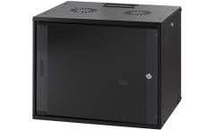 MIRSAN MR.WTC09U45.01 :: Сървърен шкаф за мрежово оборудване - 540 x 440 x 450 мм, D=450 мм / 9U, черен, за стена, ComboBox