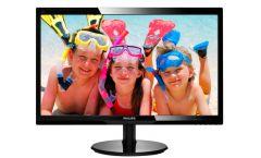 "Philips 24"" Slim LED 1920x1080 FullHD 16:9 5ms 250cd/m2 10 000 000:1 HDMI, Speakers, VESA, Piano Black"