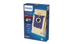 Philips Торби за прахосмукачки s-bag 5 x торбички за прах, Един стандарт за всички, Хартиена торба, Хигиенична система за затваряне