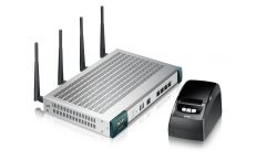 ZyXEL UAG2100 Unified Access Gateway: Wireless Dual Radio (802.11 a/b/g/n) HotSpot solution with billing system and one-click printer SP350E, 100 clients (option 200 clients), bandwidth management per account, option (licensed) WiFi controller for 8