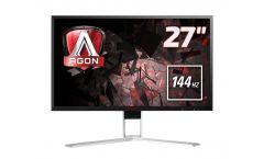 """AOC AGON AG271QX 27"""", TN, 1 ms, 50M:1 DCR, 350 cd/m2, 2560x1440@144Hz , VGA , DVI , HDMI , MHL , Displayport , USB fast charge"""