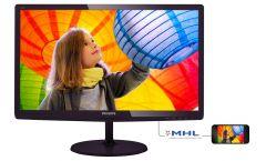"Philips 227E6LDAD, 21.5"" Wide TN LED, 1 ms, 20M:1 DCR, 250 cd/m2, 1920x1080 FullHD, D-Sub, DVI, HDMI, Black"