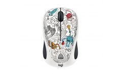 Logitech Doodle Collection - M238 Wireless Mouse - TECHIE WHITE