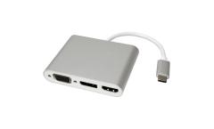 ROLINE 12.03.3230 :: ROLINE USB Type C към VGA, HDMI и DP адаптер