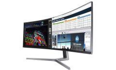 """Samsung C49HGG90DMU, 48.9"""" Curved VA LED, Professional GAMING, 1,800R, 144hz, 1ms, Quantum Dot, Freesync, 3840 X 1080, 2xHDMI, DP, Mini DP, USB HUB, 650cd/m2, 3000:1 , 178°/178°, Charcoal Black"""