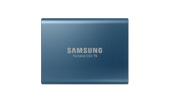 Portable SSD Samsung T5 Series, 250 GB 3D V-NAND Flash, Slim, USB type-C , Metal Blue