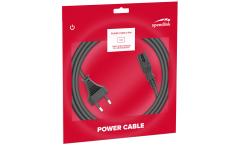 Speedlink Power Cord Euro Plug - 2-pin socket, Schuko (Type C) – 2 pin (fig8) socket, 1.50m Basic